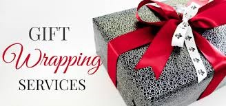 Christmas gift wrapping service flyer